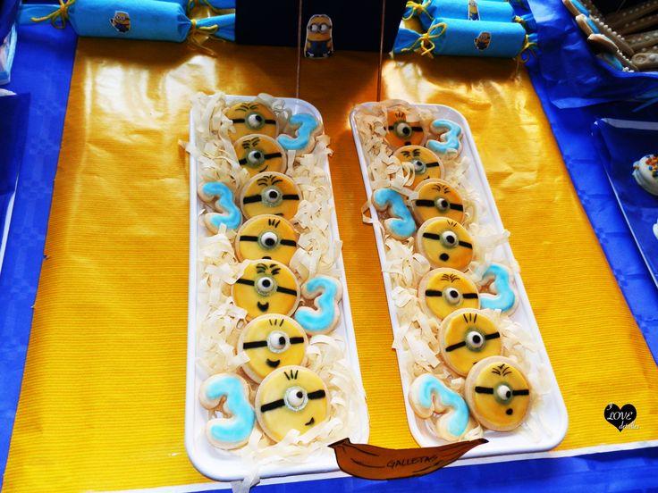 Minion Party, fiesta minions, Candy Bar despicable me, candy bar minions, sweet table despicable me, sweet table minions, minion cookies, galletas minion