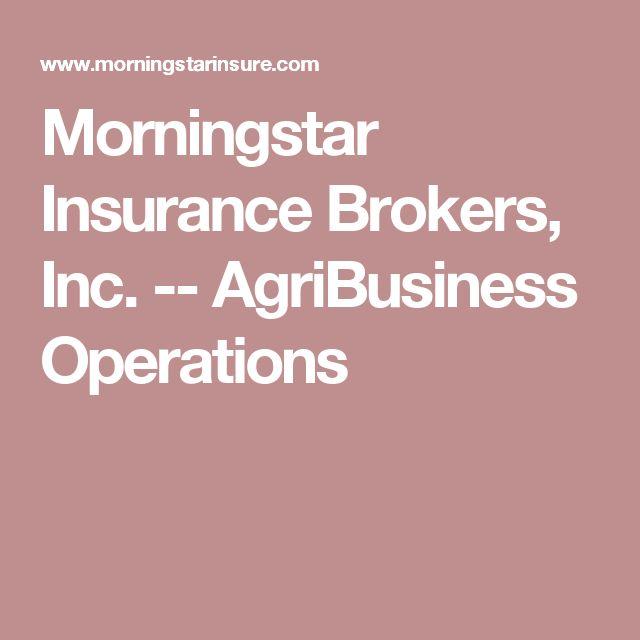 Morningstar Insurance Brokers, Inc. -- AgriBusiness Operations
