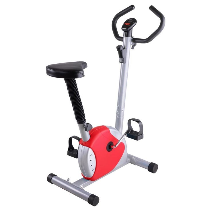 ReaseJoy Exercise Bike Fintess Cycling Machine Home Personal Gym Cardio Aerobic Equipment Red. It's very suitable for people exercise at home when you watch TV or listen music. It's great for Leisure Exercise. Moderate resistance, play effect of exercise, but not very hard. Multi resistance adjustment; Seat vertical adjustable system. Computer for scan, time, speed, distance, calories.