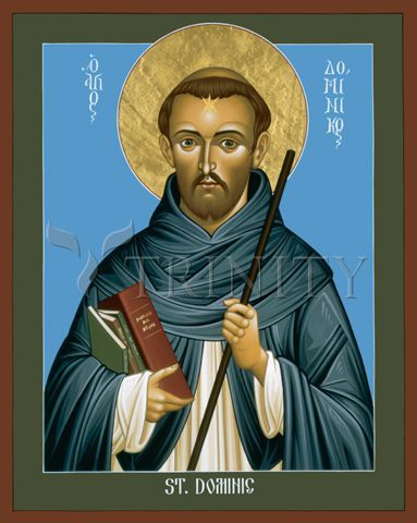 """St. Dominic Guzman   Catholic Christian Religious Art - Icon by Br. Robert Lentz, OFM - From your Trinity Stores crew, """"Here's to Dominican St. Dominic!"""""""