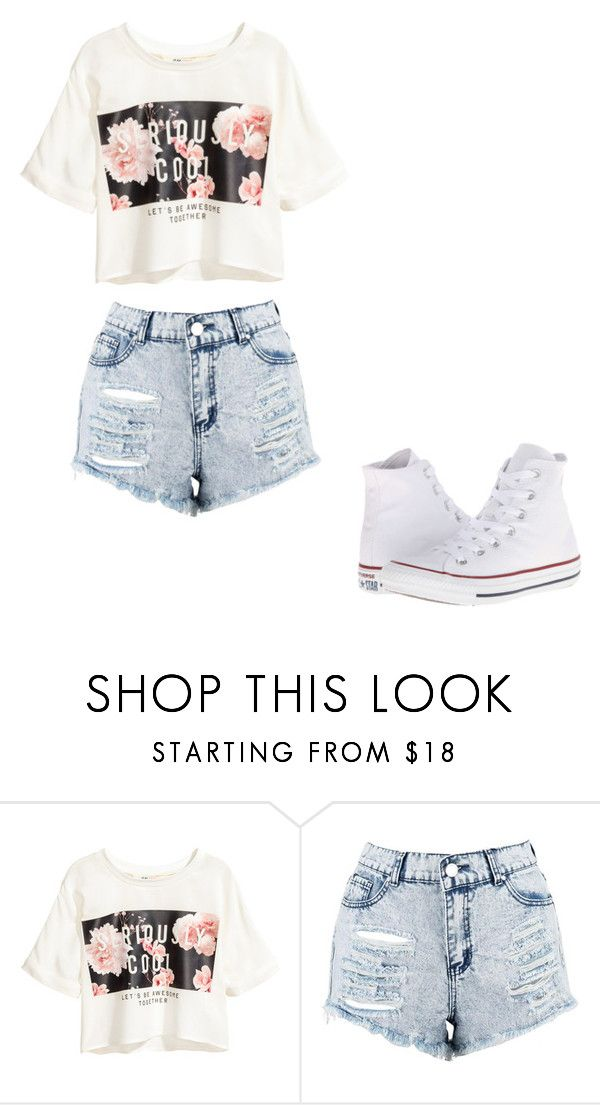 """""""Untitled #332"""" by thenerdyfairy on Polyvore featuring Boohoo and Converse"""