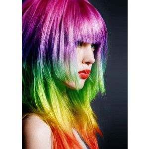 Rainbow hair!! it's a rainbow, what's not to love??
