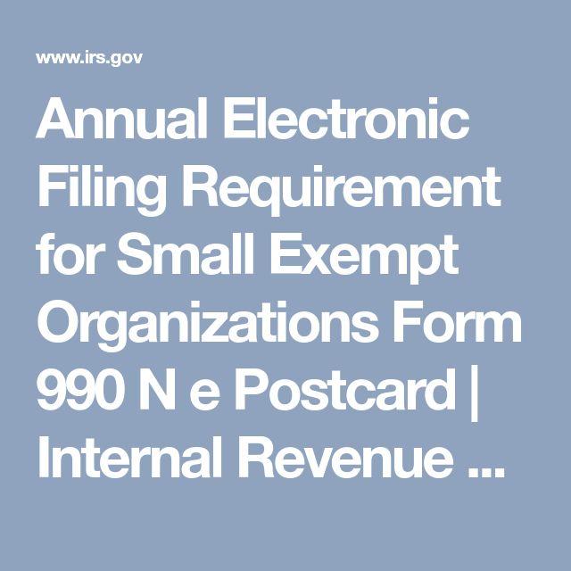 Exempt Organizations Select Check Internal Revenue Service