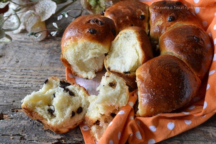 Pan brioche con gocce di cioccolato