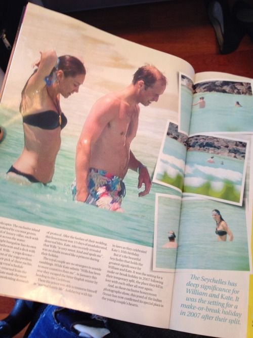 """bill-and-cathy-cambridge: """" minimiddleton: """" Pictures of William and Kate's honeymoon from Woman's Day Australia. """" Hot. """""""
