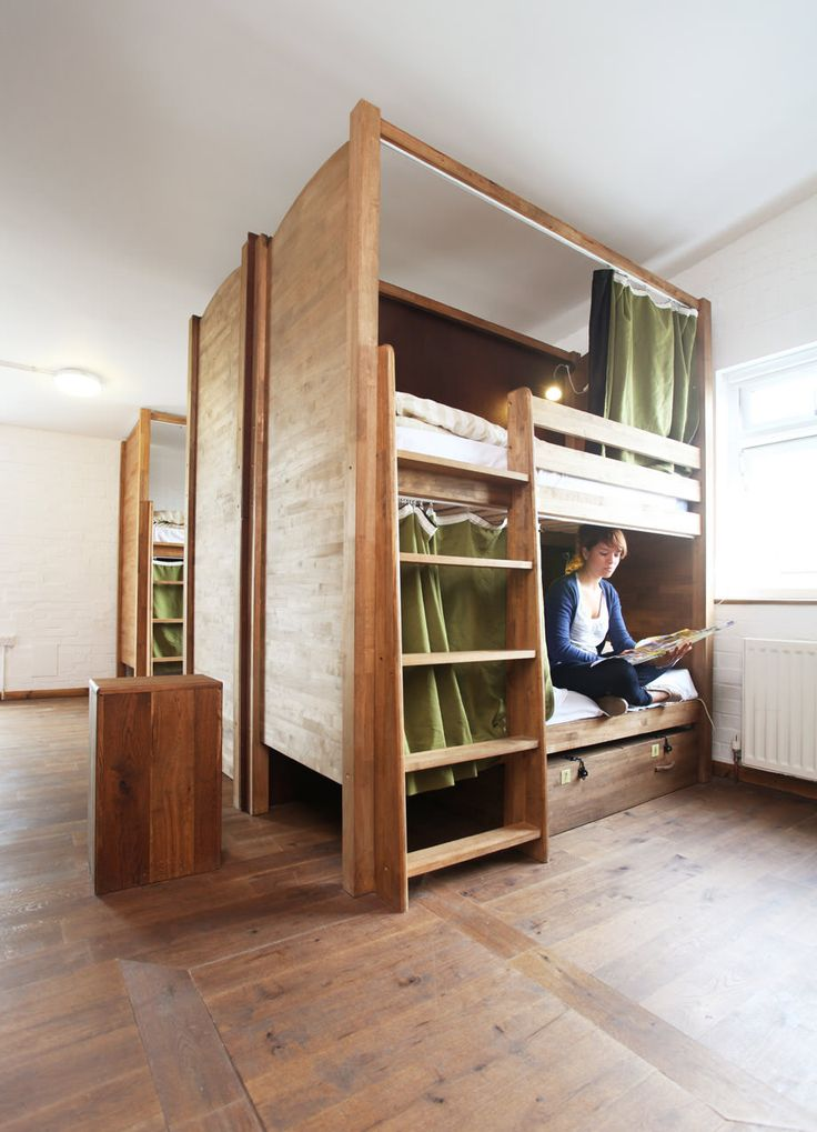 20 best images about bunk bed designs on pinterest built for Hostel room interior design ideas
