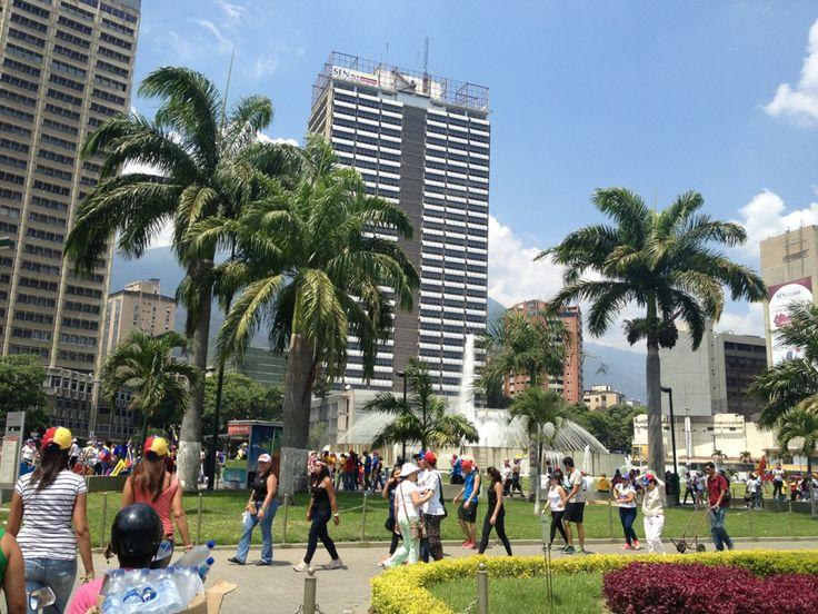Plaza Venezuela in Caracas, Distrito Federal