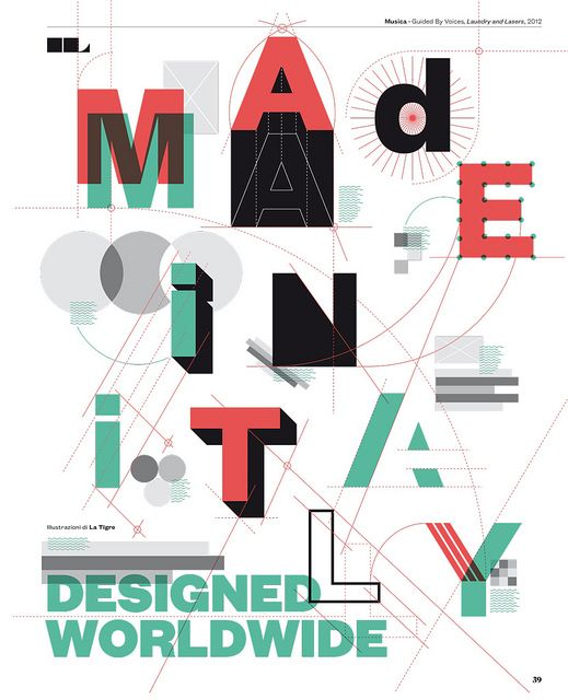 I wish I came up with stuff like this: IL40 - Cover story / DESIGN INTELLIGENTE by Francesco Franchi, via Flickr