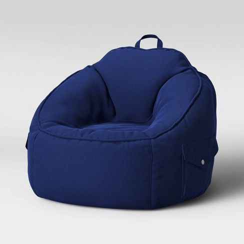 Canvas Bean Bag Chair Navy Pillowfort Bean Bag Gaming Chair
