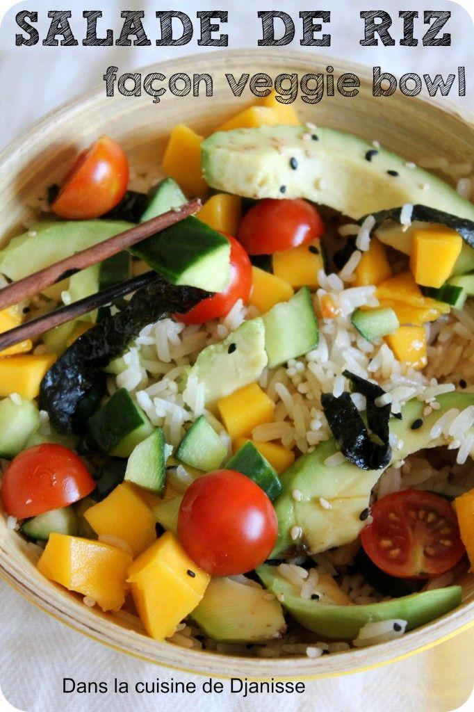 """Une salade de riz sous une présention """"veggie bowl"""" aux douces saveurs asiatiques"""