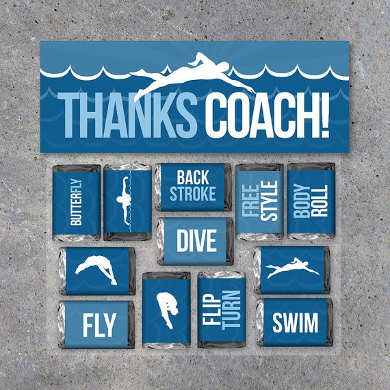 Swimming Coach Thank You Gift – Printable treat downloads by Studio 120 Underground, $6