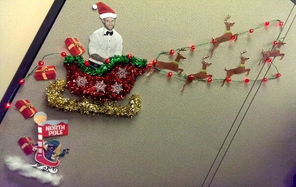 9 best RAD - Christmas Office Decor images on Pinterest Office - office christmas decorations