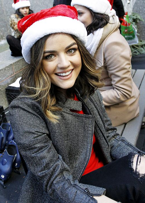 Lucy Hale attends ABC Family's '25 Days Of Christmas' at the ice skating rink at Rockefeller Center in New York | December 7th