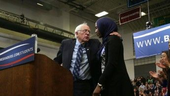 """Let me be very personal if I might. I'm Jewish, my father's family died in concentration camps,"" Bernie Sanders said to the student at a town hall speech in Virginia who asked how he would stand up to Islamophobia. ""I will do everything that I can to rid this country of the ugly stain of racism that has existed for far too many years."" Sanders promises to lead fight against Islamophobia"