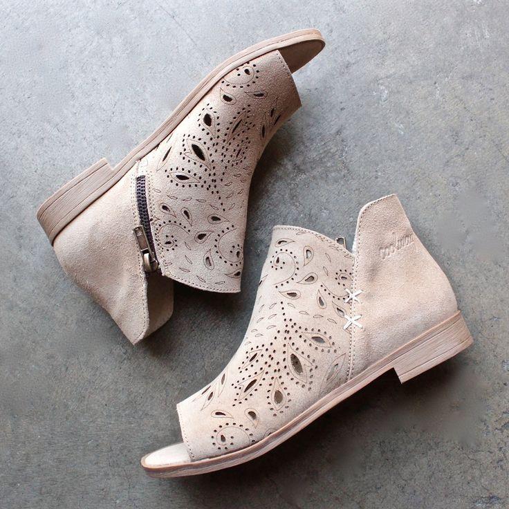 coolway - nelia laser cut open toe bootie (women) - shophearts - 1