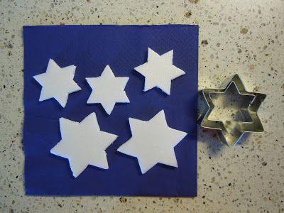stelline in polistirolo per decorare l'albero di natale