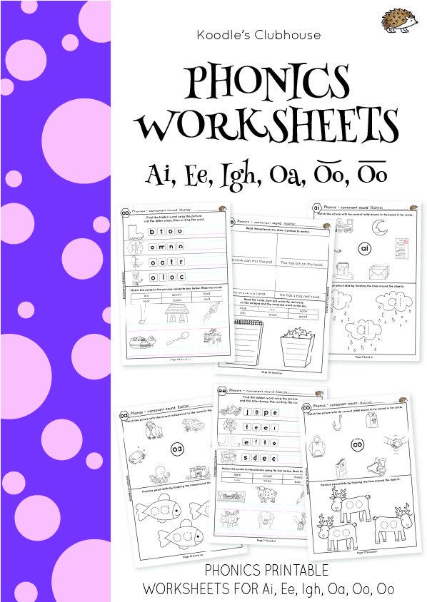 Phonics Ai Ee Igh Oa Oo Oo Worksheets Phonics Worksheets Phonics Phonics Instruction Ai phonics worksheet