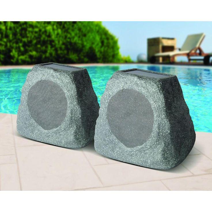 Ion Audio Solar Stone Outdoor Rock Speaker with Solar Panel