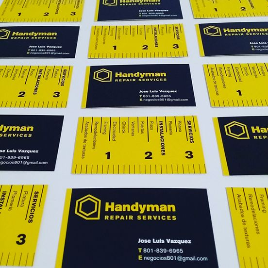 Handyman Business Cards Business Ideasbusiness Card Designbusiness. Graphic  Design Business Ideas ...