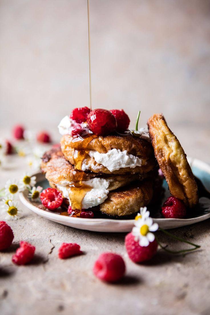 Raspberry Ricotta Croissant French Toast | halfbakedharvest.com @hbharvest via @hbharvest