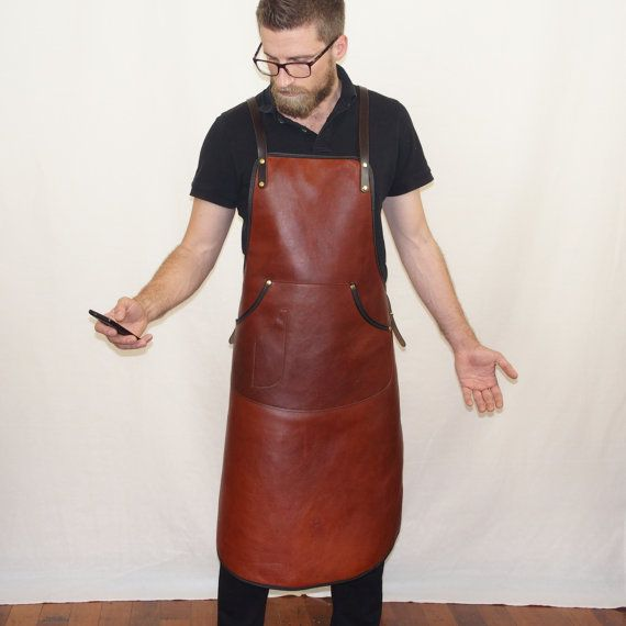 Handcrafted Leather Apron for bar staff and barista's by StudioBT