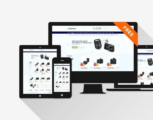 E-commerce Camera Store Website Template (Psd)   Blugraphic