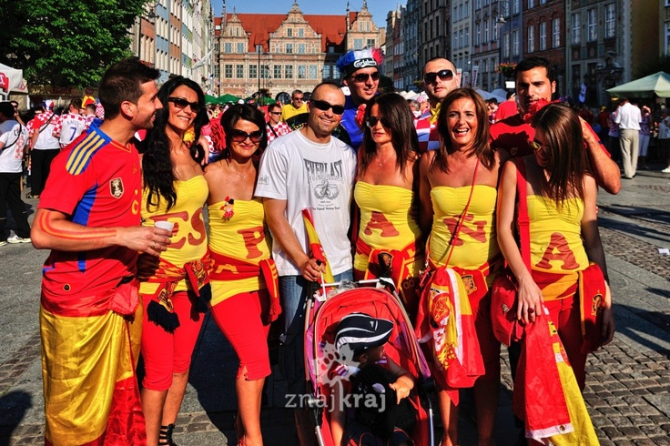 Gdańsk, przed meczem Chorwacja-Hiszpania.