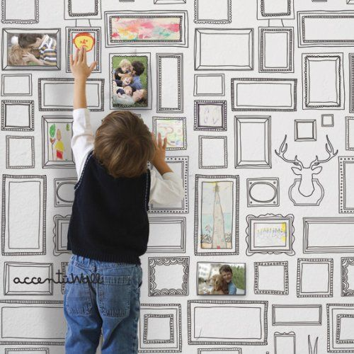 Frames Peel & Stick Fabric Wallpaper Repositionable