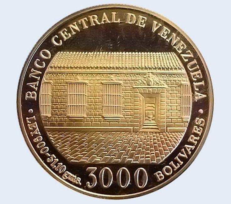 Venezuela Moneda 3000 Bs oro 1983 - Bicentenario Natalicio Libertador Simon Bolivar b
