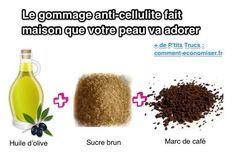 recette du gommage fait maison anti-cellulite