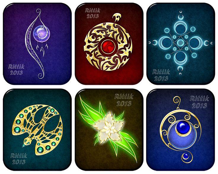 Magic items set (1) by Rittik-Designs on deviantART