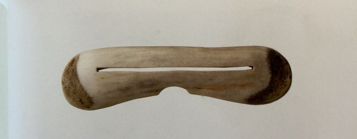 @bychromatic #ChromaticHistory Bone sun shield, Lapland, 19th century. The first glasses - EYEWARE A VISUAL HISTORY.