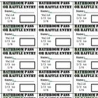 FREE  This is a great idea!  It's a Restroom pass or a if not used, a raffle ticket.   : Attached is a Word document with cut-out bathroom passes and raffle entry reward slips. If students didn't use their bathroom tickets in a given we...