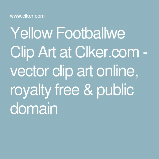 Yellow Footballwe Clip Art at Clker.com - vector clip art online, royalty free & public domain