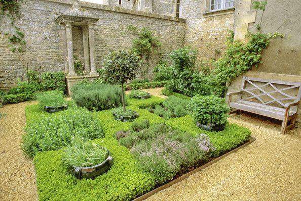 Kitchen Gardens - Design Chic - little courtyard herb garden