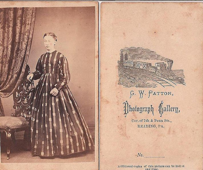 CIVIL WAR ERA LADY WITH GREAT DRESS, READING PA., CDV in Collectibles, Photographic Images, Vintage & Antique (Pre-1940) | eBay