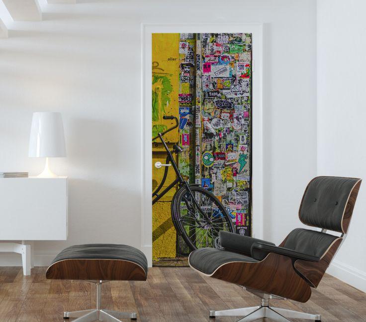 Grunge Graffiti Corner Door Mural & 41 best Door Murals images on Pinterest   Custom wall murals Door ...
