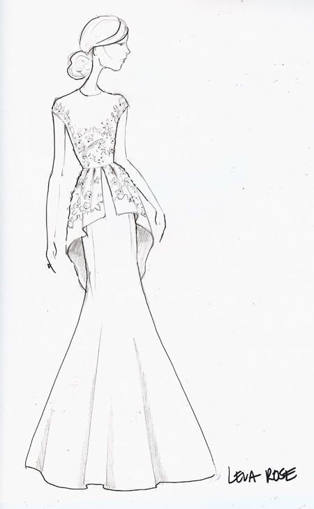 cool Runway Sketch Sneak Peek: Lela Rose by http://www.polyvorebydana.us/fashion-sketches/runway-sketch-sneak-peek-lela-rose/