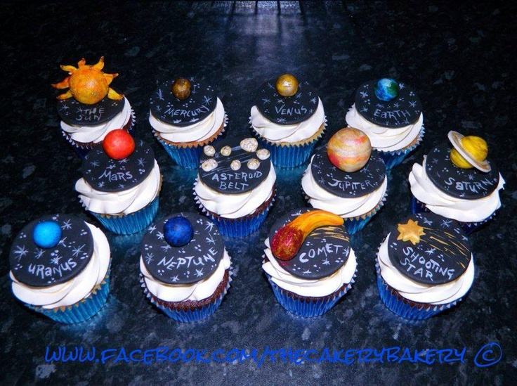 Space themed cupcakes cupcakes pinterest themed for Outer space cake design