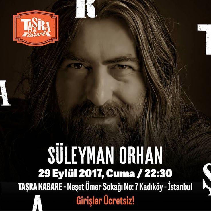 Süleyman Orhan kendi besteleri kendine özgü üslubu ve bilinmeyen aşk şarkılarından oluşan repertuarıyla bu akşam Taşra Kabare Akustik Sahne'de... Girişler Ücretsiz Taşra'da Buluşalım  #TaşradaBuluşalım #TaşraKabare #konser #müzik #music #kabare #cabaret #tiyatro #theatre #food #Kadıköy #canlımüzik #istanbul #ücretsiz #istanbul