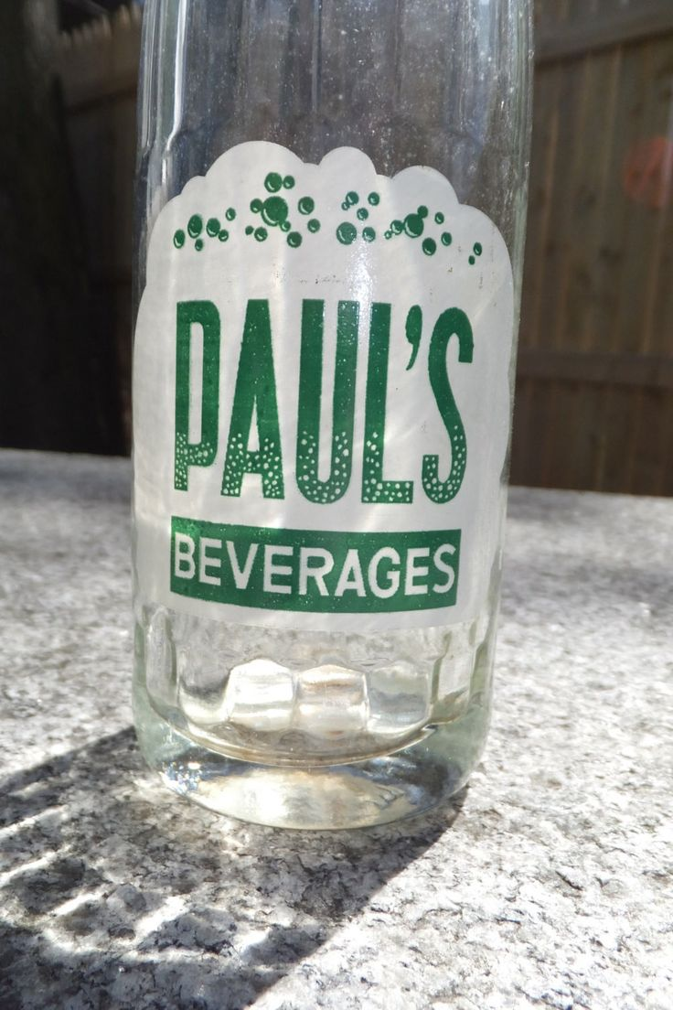 Vintage Glass Bottle - Paul's Beverages Soda Bottle, Waterbury Connecticut, Rare Pop Bottle