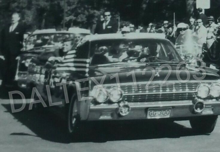 President Kennedy and First Lady Jacqueline Kennedy can be seen sitting in the rear seat. Nellie Connally can be seen sitting in the jump seat. Governor John Connally is not visible as he is seated behind SS Agent Roy Kellerman. | eBay!