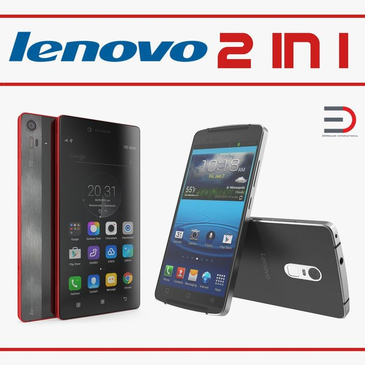 Lenovo Cellphones Collection 3D model