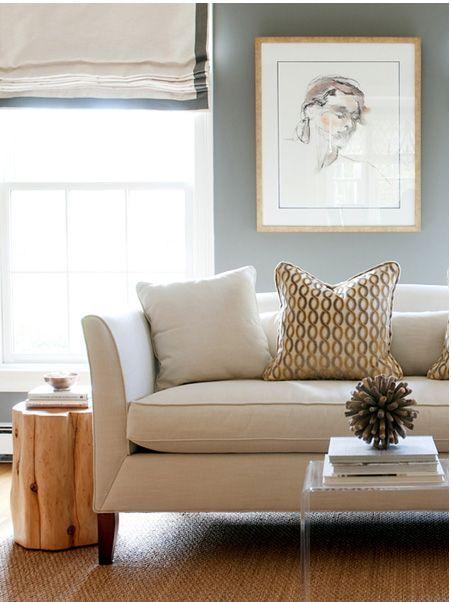 Best Elegant Living Room Features Light Gray Linen Sofa With 400 x 300