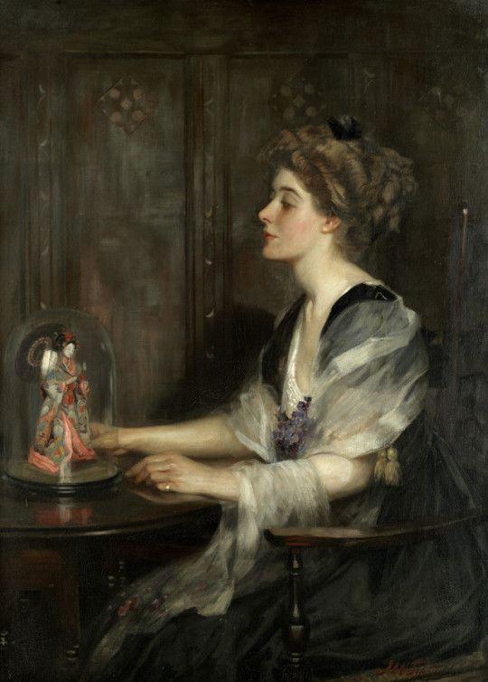 Portrait of Lily Macdonald - John William Schofield