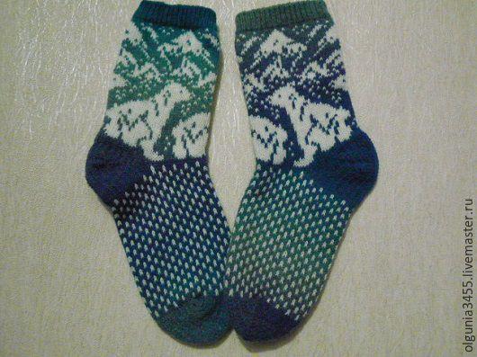 Купить Носки с мишками - Носки шерстяные, носки вязаные, носочки женские, носочки, носки мужские