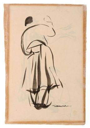 La Mouleur de la Viérge folle, Rik Wouters, s.d., Oost-Indische inkt op papier, 34,5 x 24 cm, Collectie Provincie Antwerpen, P/G 447, legaat...
