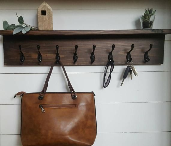 Rustic Wooden Coat Entry Rack Coat Hanger Wall Mount Wood Hook Rack With Shelf Coat Hook Rack Entryway Hooks Hanging Shelf Wall Mounted In 2020 With Images Entryway Hooks Wall Mounted Coat