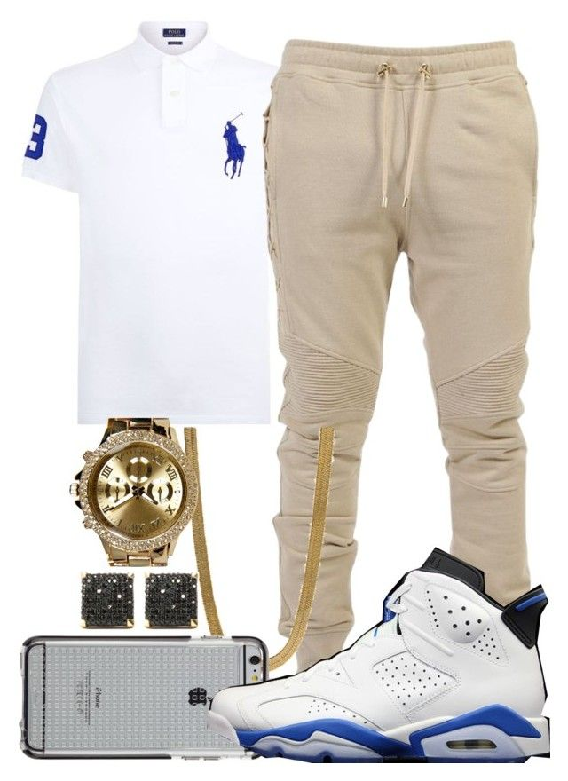"""""""Royalty- Young Dolph"""" by crenshaw-m4fia ❤ liked on Polyvore featuring Polo Ralph Lauren, Balmain, King Ice, Case-Mate, Boohoo, men's fashion and menswear"""