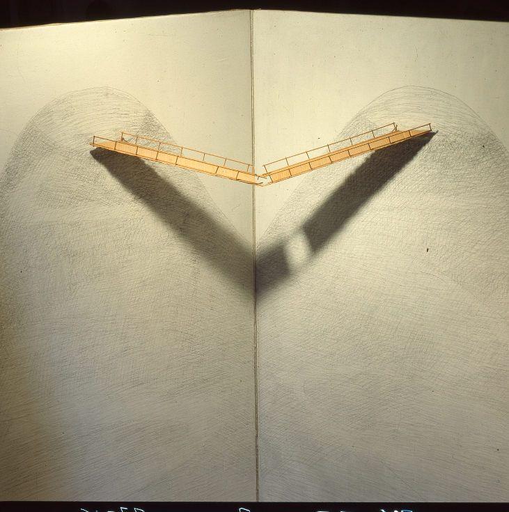 Sulla comunicazione incerta, 1973, grafite su tempera su tela e oggetto